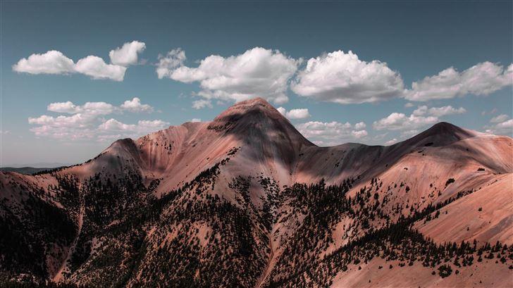 mountain alpine clouds 8k Mac Wallpaper