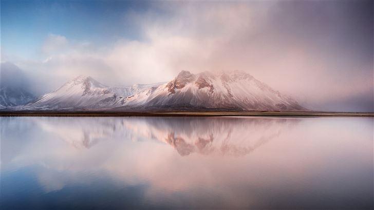 calm lake mountains 8k Mac Wallpaper