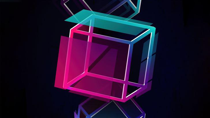 cube floater 5k Mac Wallpaper
