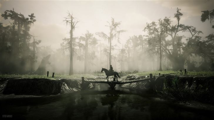 red dead redemption 2 going for a nice walk Mac Wallpaper
