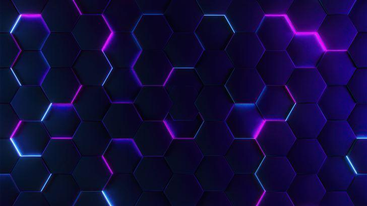 polygon glowing joins 5k Mac Wallpaper