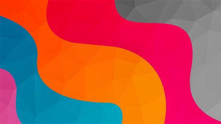 colour waves motion end 8k Mac Wallpaper