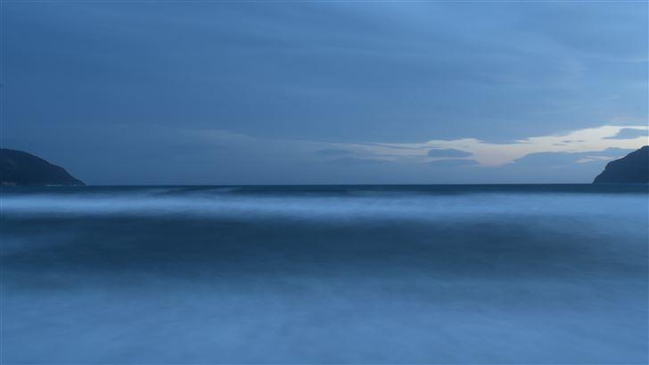 ocean sea horizon 5k Mac Wallpaper