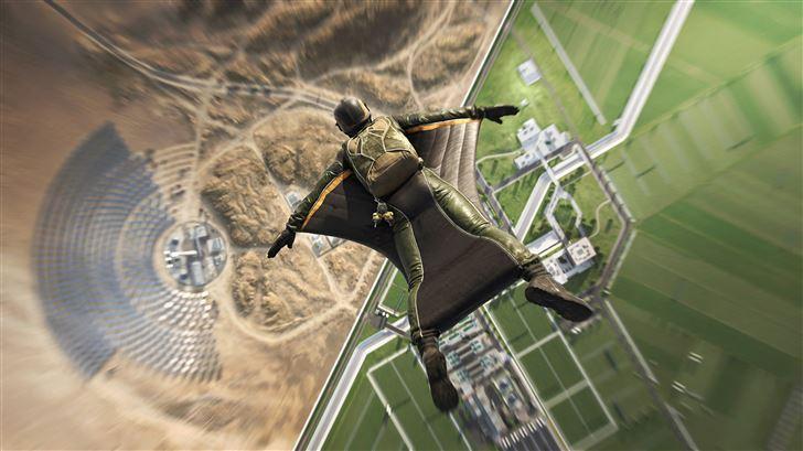 battlefield 2042 wingsuit jump 5k Mac Wallpaper