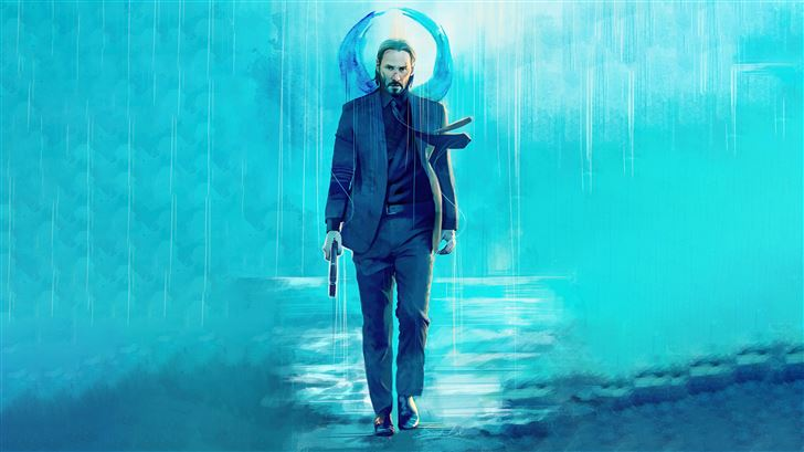 keanu reeves walking with gun Mac Wallpaper