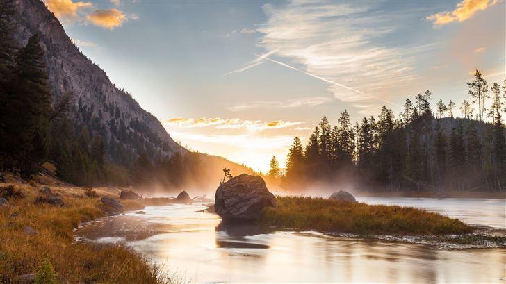sunrise reflection national park 5k Mac Wallpaper