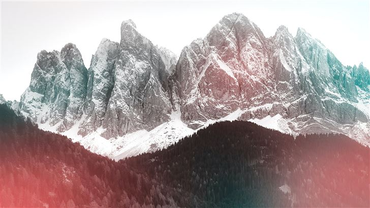 snow covered mountain during day time 5k Mac Wallpaper