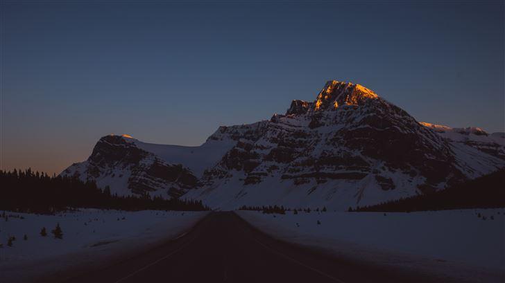 mountain road evening 5k Mac Wallpaper