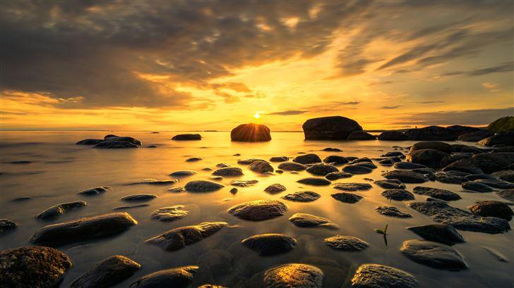lakescape sunset 5k Mac Wallpaper