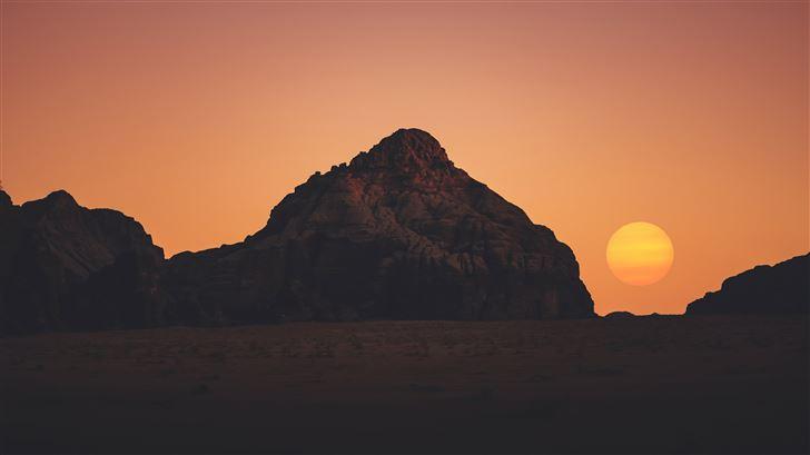 sunset dry day 5k Mac Wallpaper