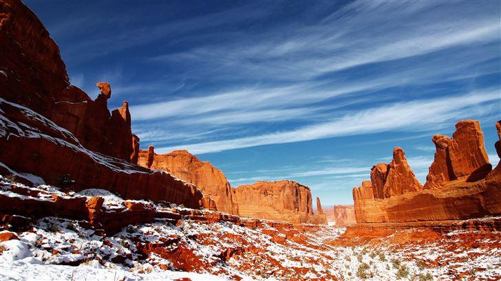 desert mountain mesa cliff 5k Mac Wallpaper