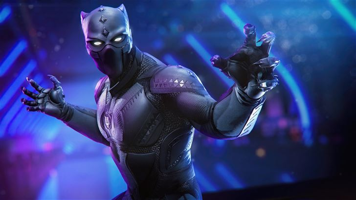 marvels avengers black panther 5k Mac Wallpaper