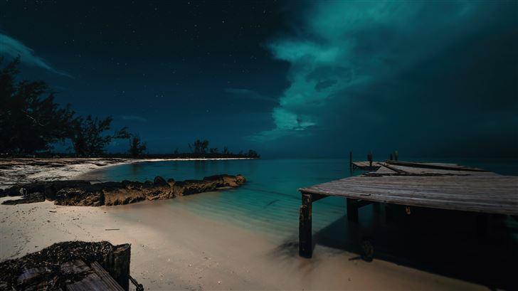 jaws beach in the bahamas 5k Mac Wallpaper