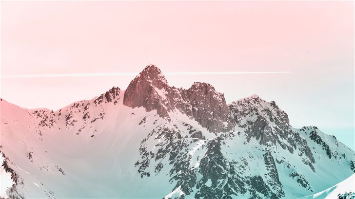 snow covered mountain Mac Wallpaper