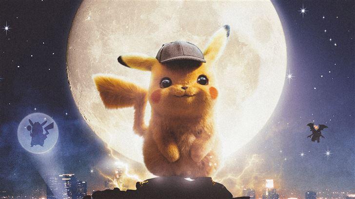 pokemon detective pikachu poster 5k Mac Wallpaper