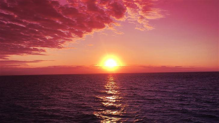 sunrises red sky pink sky Mac Wallpaper