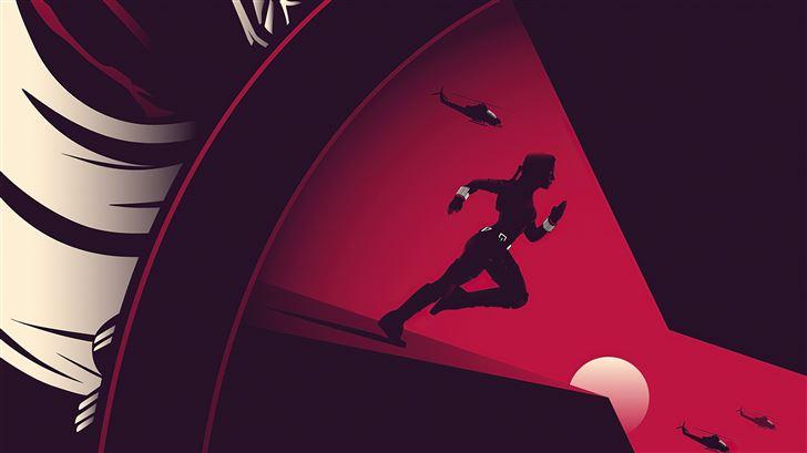 black widow minimal movie poster 5k Mac Wallpaper