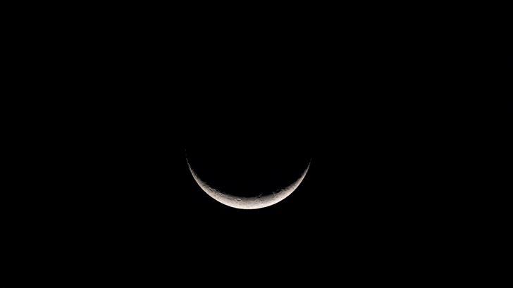 lunar moon dark 5k Mac Wallpaper