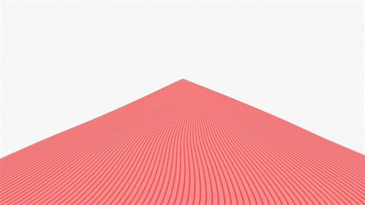 triangle pyramid red lines 8k Mac Wallpaper