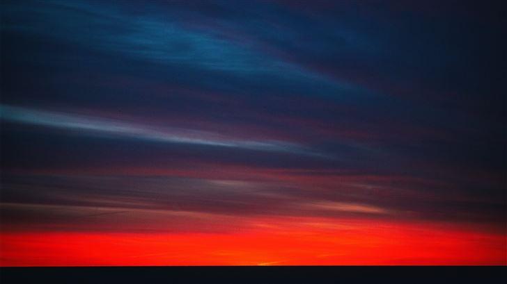 sunset evening Mac Wallpaper