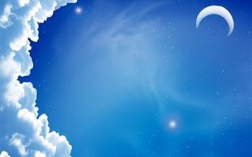 Cloud moon Mac wallpaper