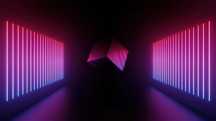 artistic cube abstract 5k Mac Wallpaper