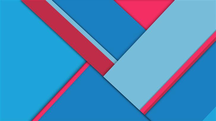 blue red material design 8k Mac Wallpaper