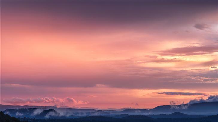 beautiful landscape sunset 8k Mac Wallpaper