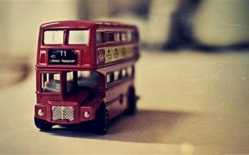 Old English Bus Toy Mac wallpaper