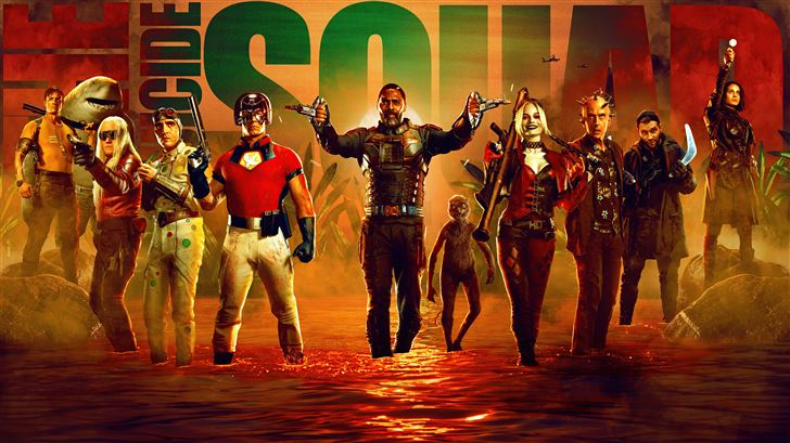 the suicide squad 2021 5k Mac Wallpaper