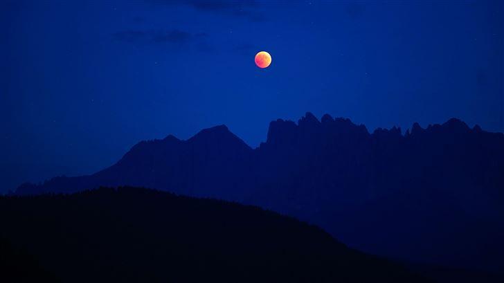 lunar eclipse 5k Mac Wallpaper