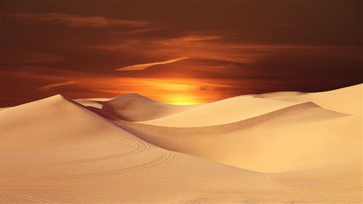 desert sand landscape 5k Mac Wallpaper