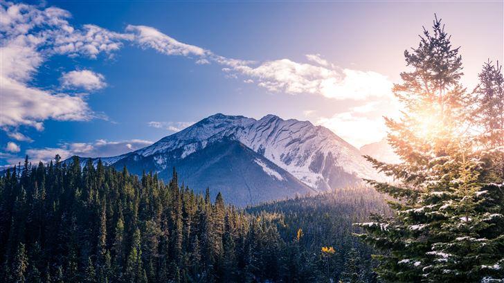 banff canada landscape 5k Mac Wallpaper