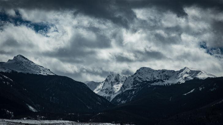 cloudy mountain scenery 5k Mac Wallpaper