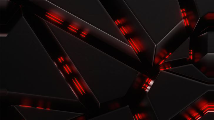 abstract red flow Mac Wallpaper