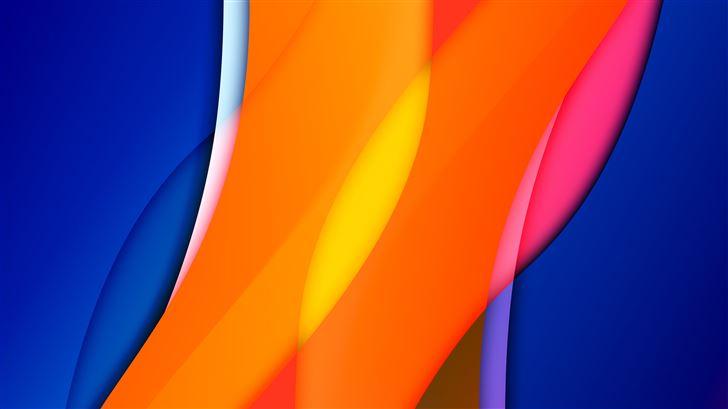 orange blue mango abstract 8k Mac Wallpaper