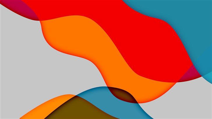 colorful wave abstract 8k Mac Wallpaper