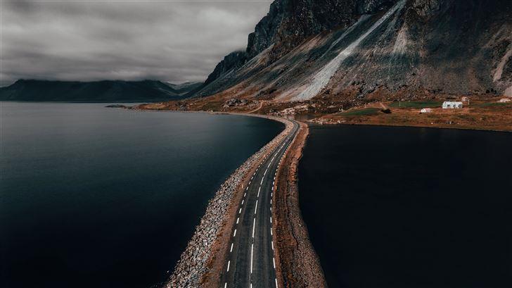 the atlantic road norway 5k Mac Wallpaper