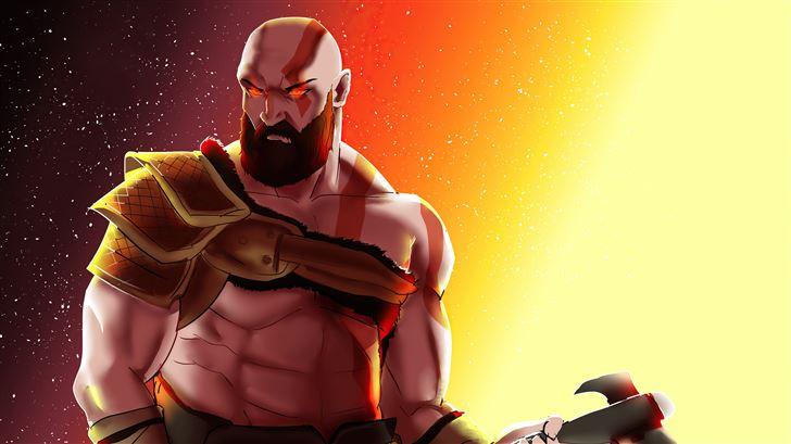 the angry kratos Mac Wallpaper