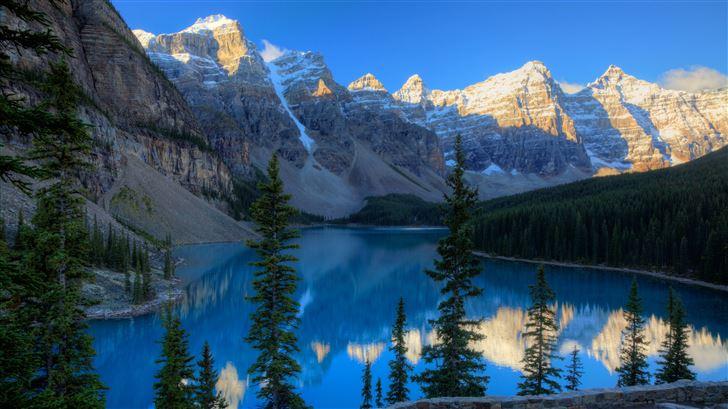 canada mountains parks lake moraine 5k Mac Wallpaper