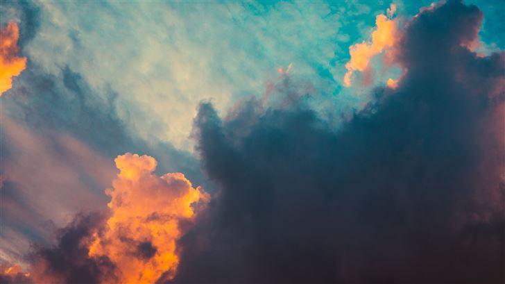 clouds orange dark sigma style sunrsie 5k Mac Wallpaper