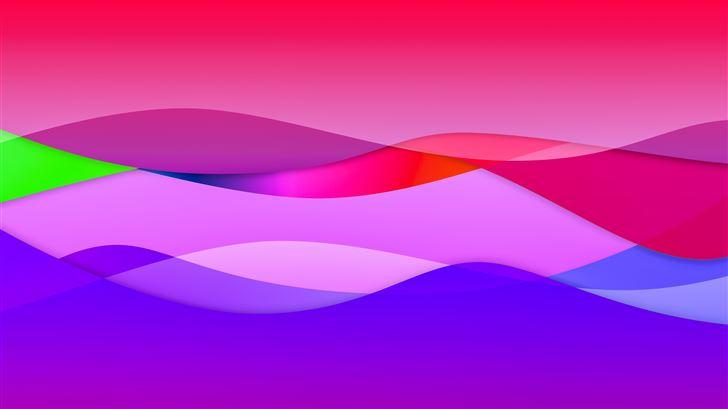bright colour waves 8k Mac Wallpaper