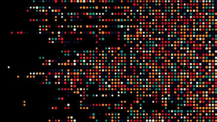 colorful dots dark abstract 5k Mac Wallpaper