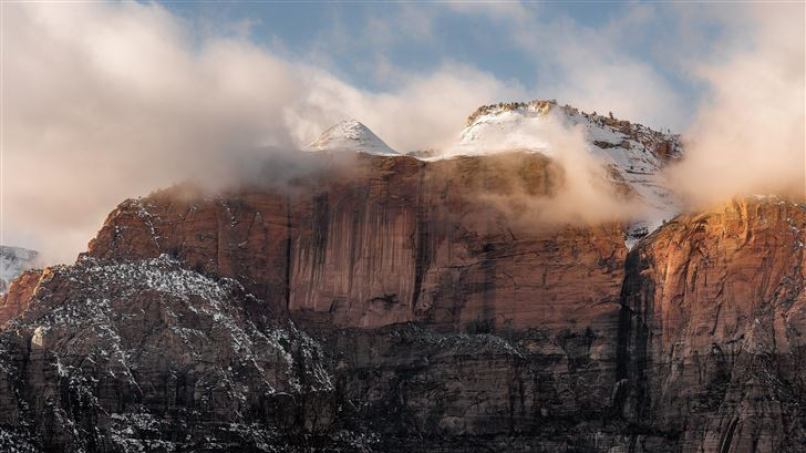zion national park united states rock mountains su Mac Wallpaper