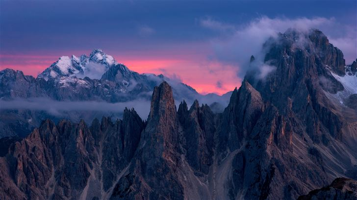 clouds over mountains 5k Mac Wallpaper