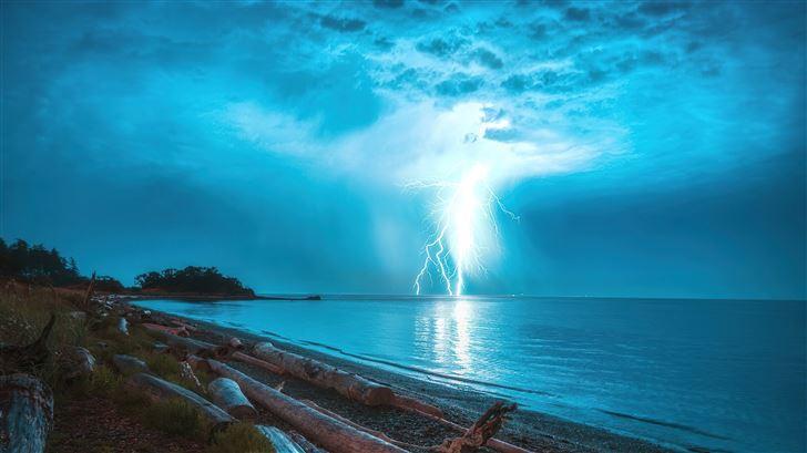 lightning storm 5k Mac Wallpaper