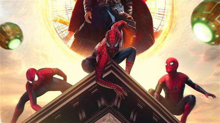 spiderman no way home 2021 poster 5k Mac Wallpaper