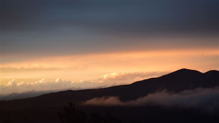 mountains clouds fog landscape 5k Mac Wallpaper