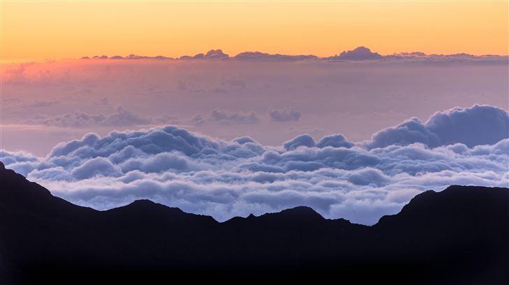 sea of clouds mountains 5k Mac Wallpaper