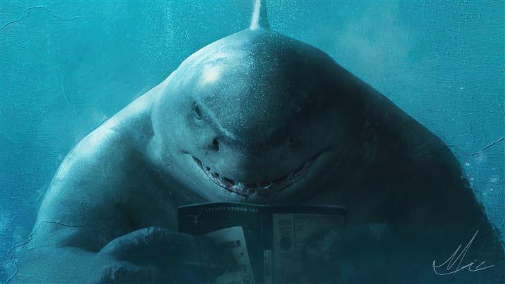 king shark x jaws Mac Wallpaper